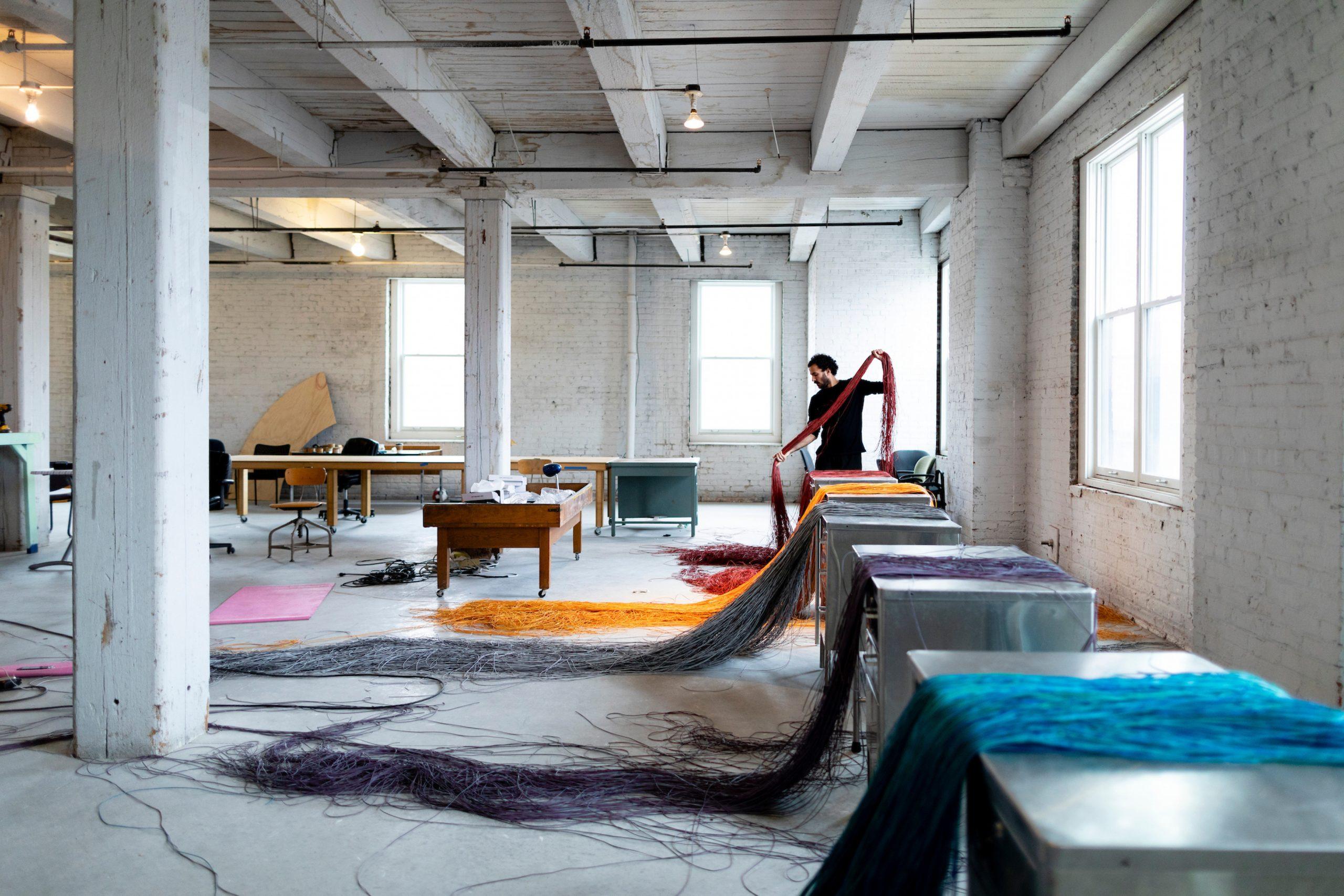 Marc Vilanova Pinyol at Bemis Center for Contemporary Arts. Photo by Colin Conces.
